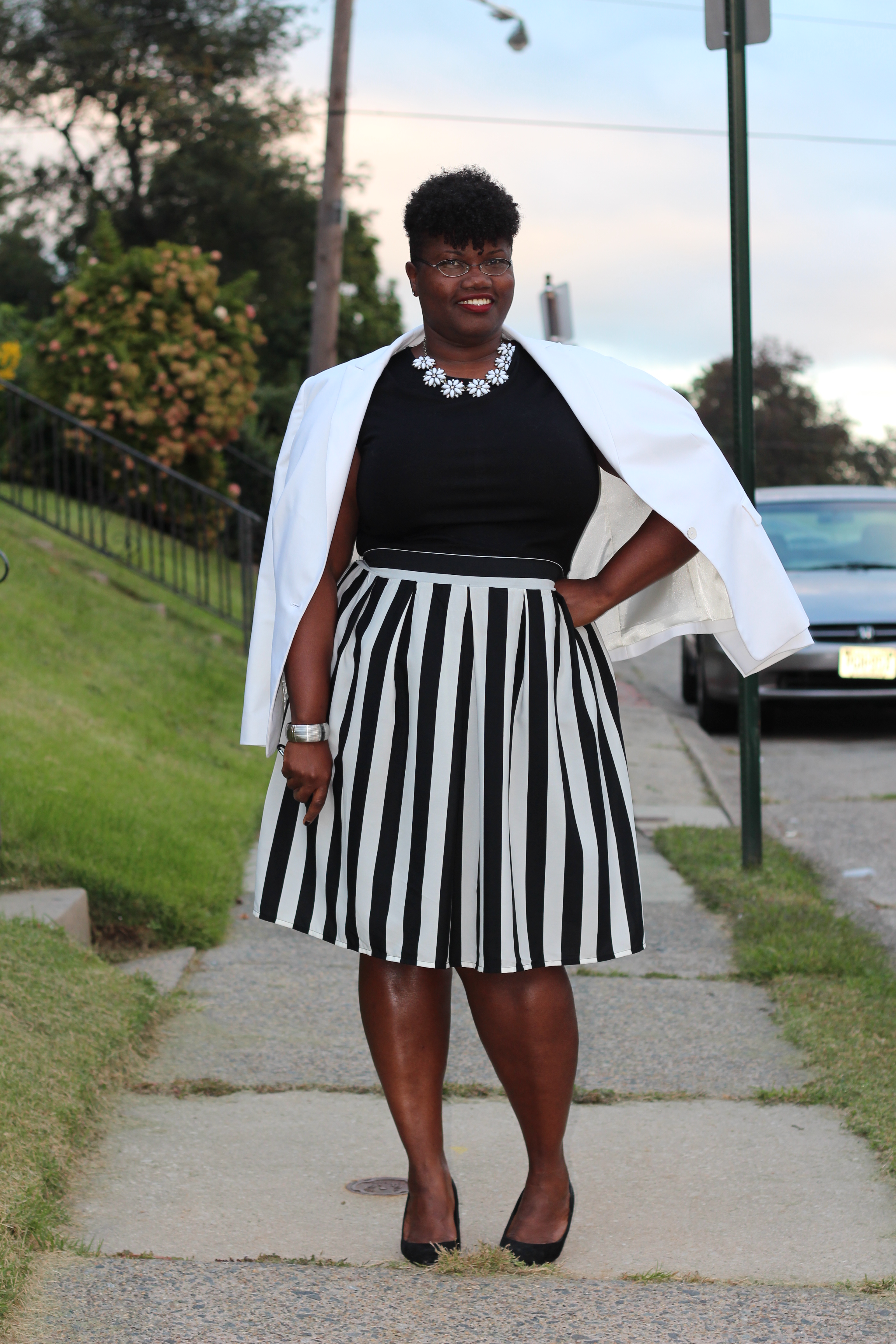 Transitions Pt 2 White Blazer Grown And Curvy Woman