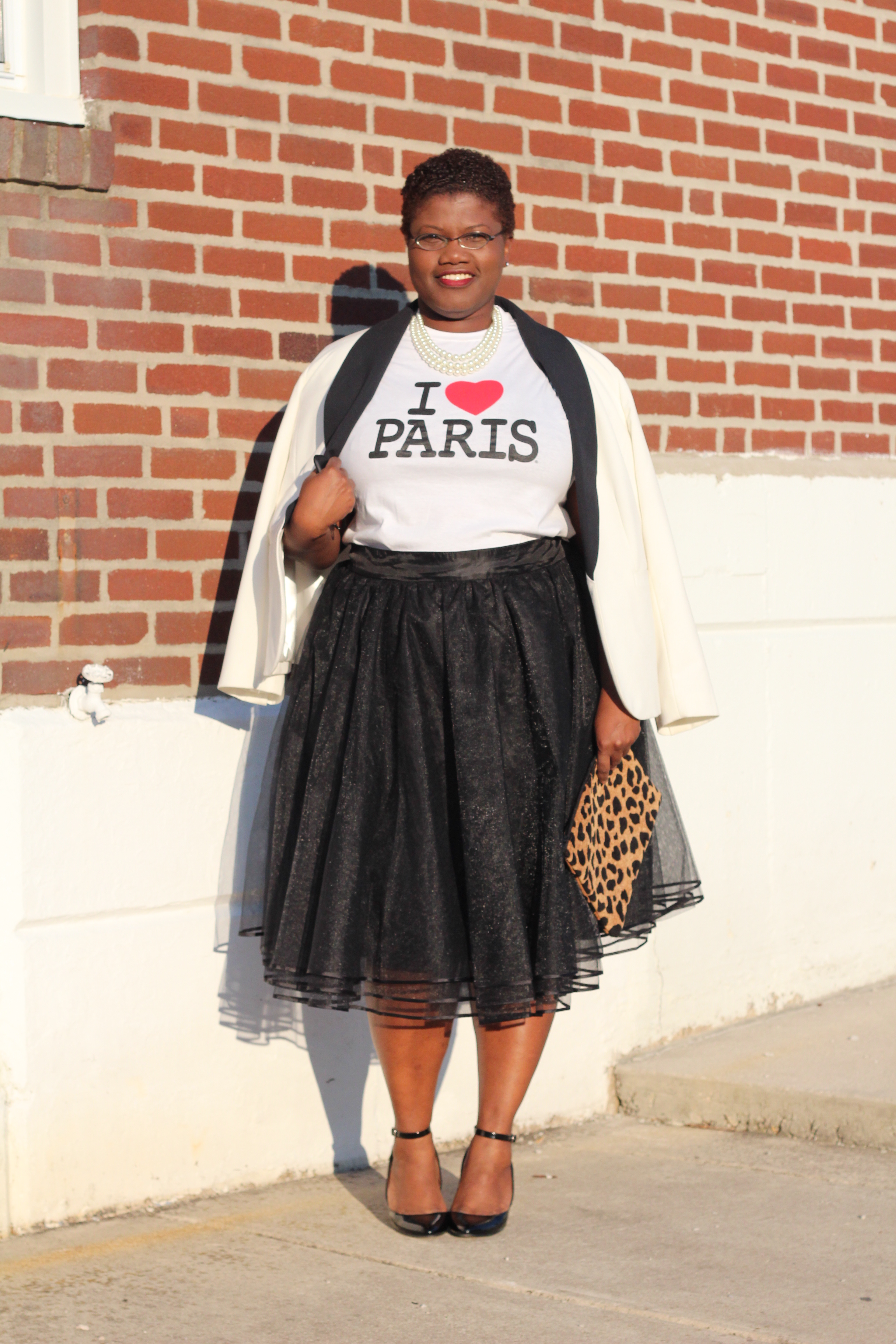 curvy women, curvy, curvy girls, simply be usa, simply be, plus size skirts, tutu, tulle skirts, eshakti, paris, leopard print, tuxedo blazer, plus size blazers, plus size clothing, 40+ bloggers, black women bloggers, black style bloggers, spring