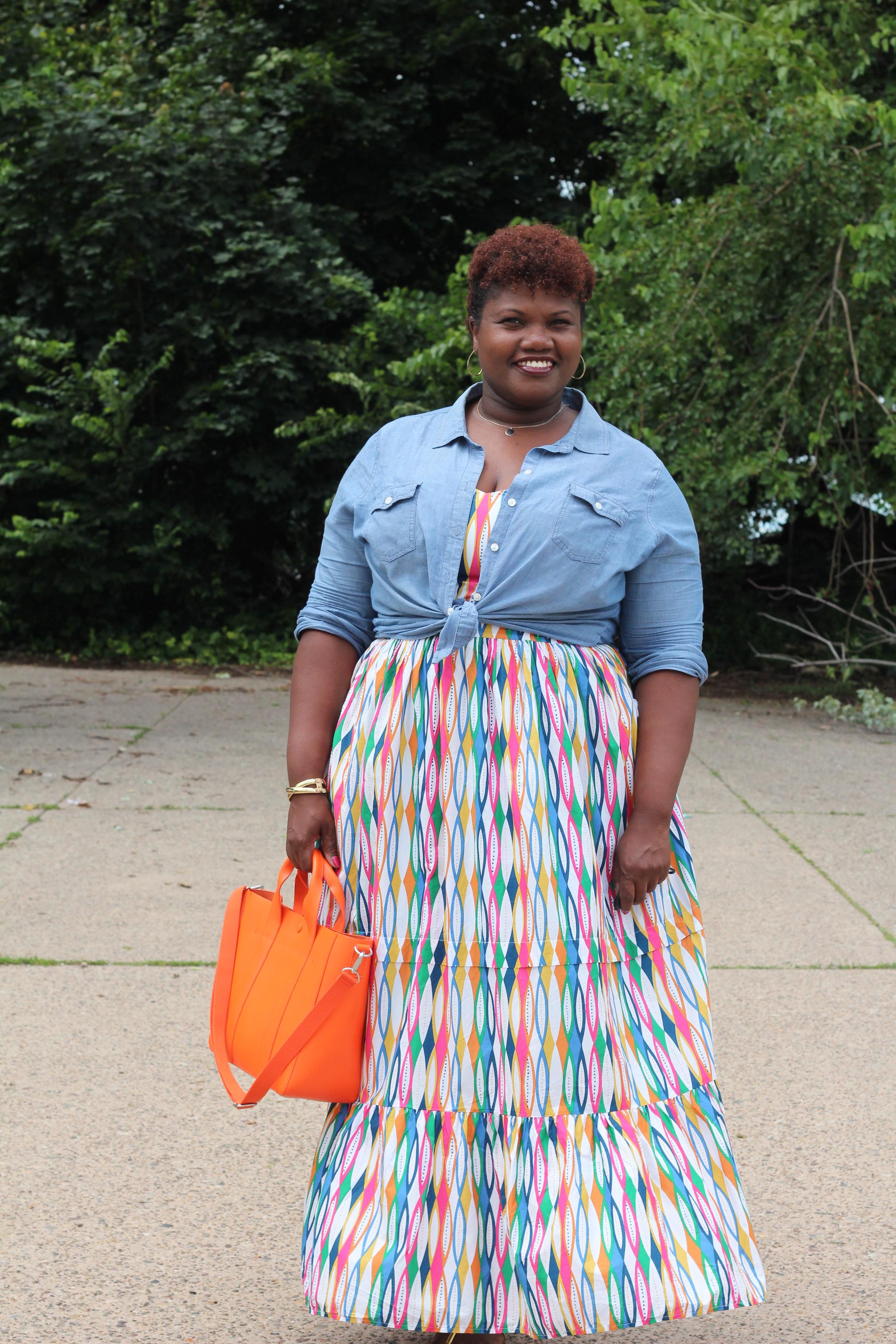 Animal Print Long Plus Size Maxi Skirts For Women