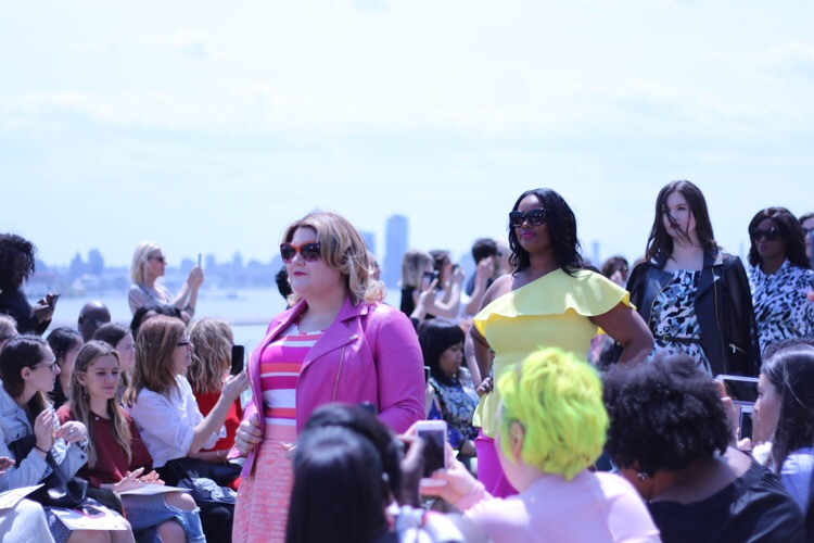 curvy women, curvy, curvy models, plus size models, christian siriano x lane bryant, christian siriano lane bryant collection, lane bryant, fashion show, plus size fashion show, plus size bloggers, plus size blogs, mixed prints, plus size midi skirts, lane bryant skirts, skirts for plus size women, christian siriano fashion show at the united nations, plus size fashion, plus size clothes, lane bryant collections