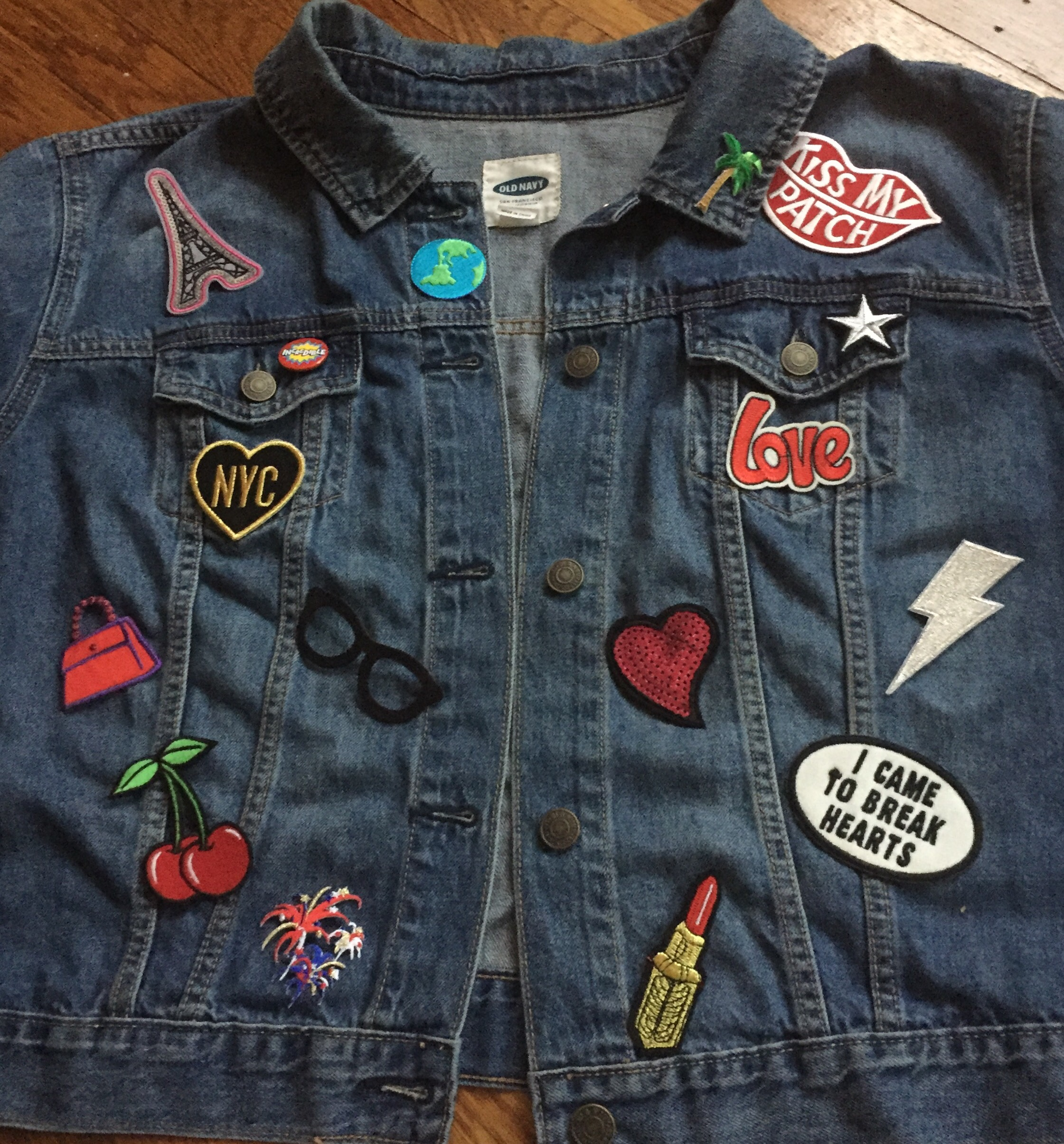 Diy Patch Denim Jacket Grown And Curvy Woman