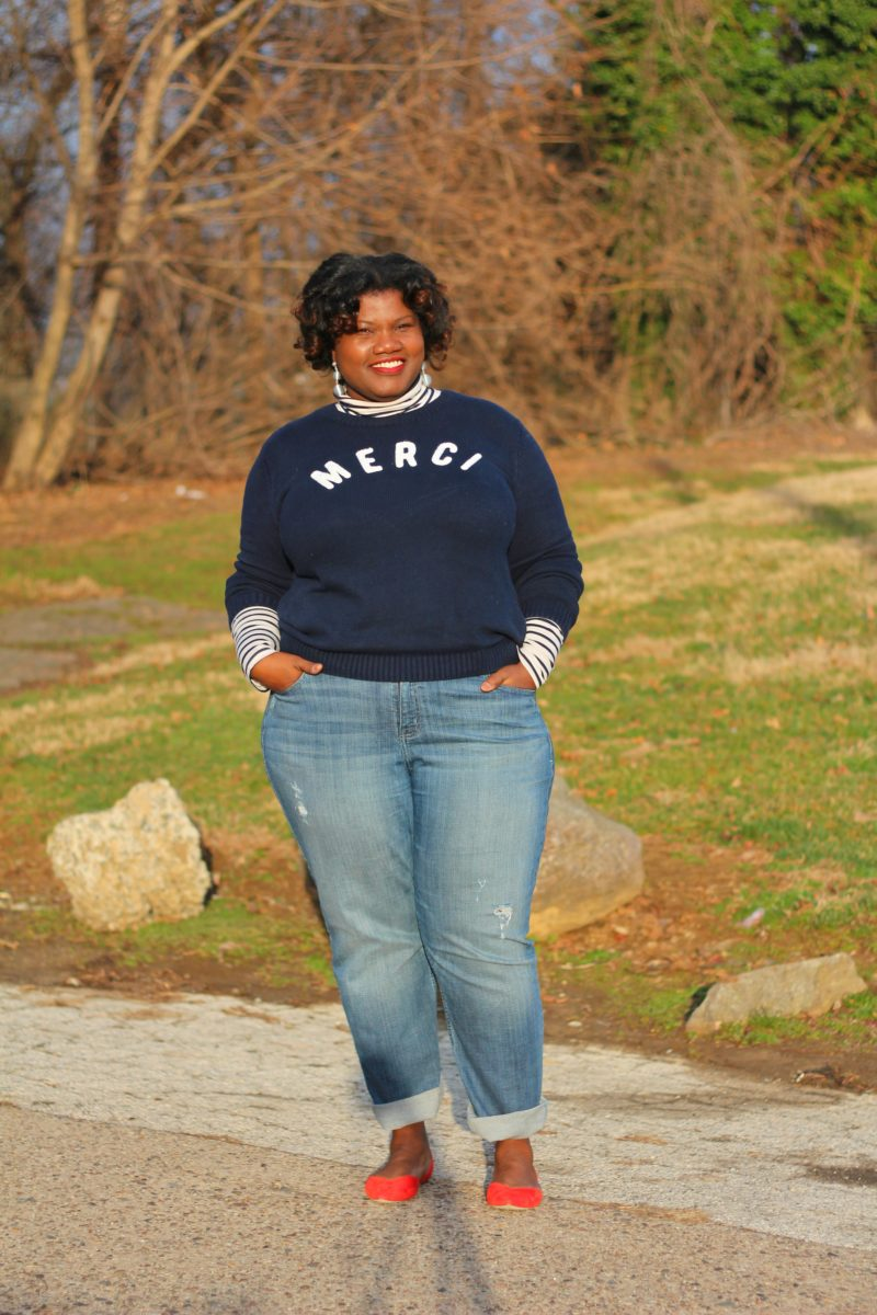 plus size clothing, plus size jeans, straight leg jeans, flats, stripes, turtlenecks, sweaters, crew neck sweaters, lane bryant jeans, old navy sweaters, gap sweaters, gap factory, curvy blogs, curvy bloggers, plus size blogs, plus size bloggers, curvy