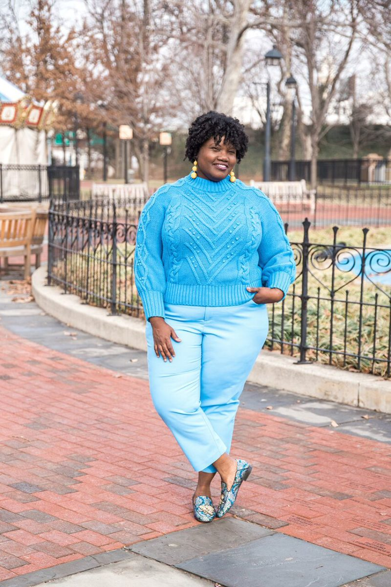 plus size clothing, plus size blogger, plus size blog, plus size blogging, loft, sweaters, loft sweaters, eloquii, cropped pants, plus size cropped pants, loafters, hm shoes, embellished loafers, color blocking, curvy, curvy women, curvy blogs, curvy bloggers