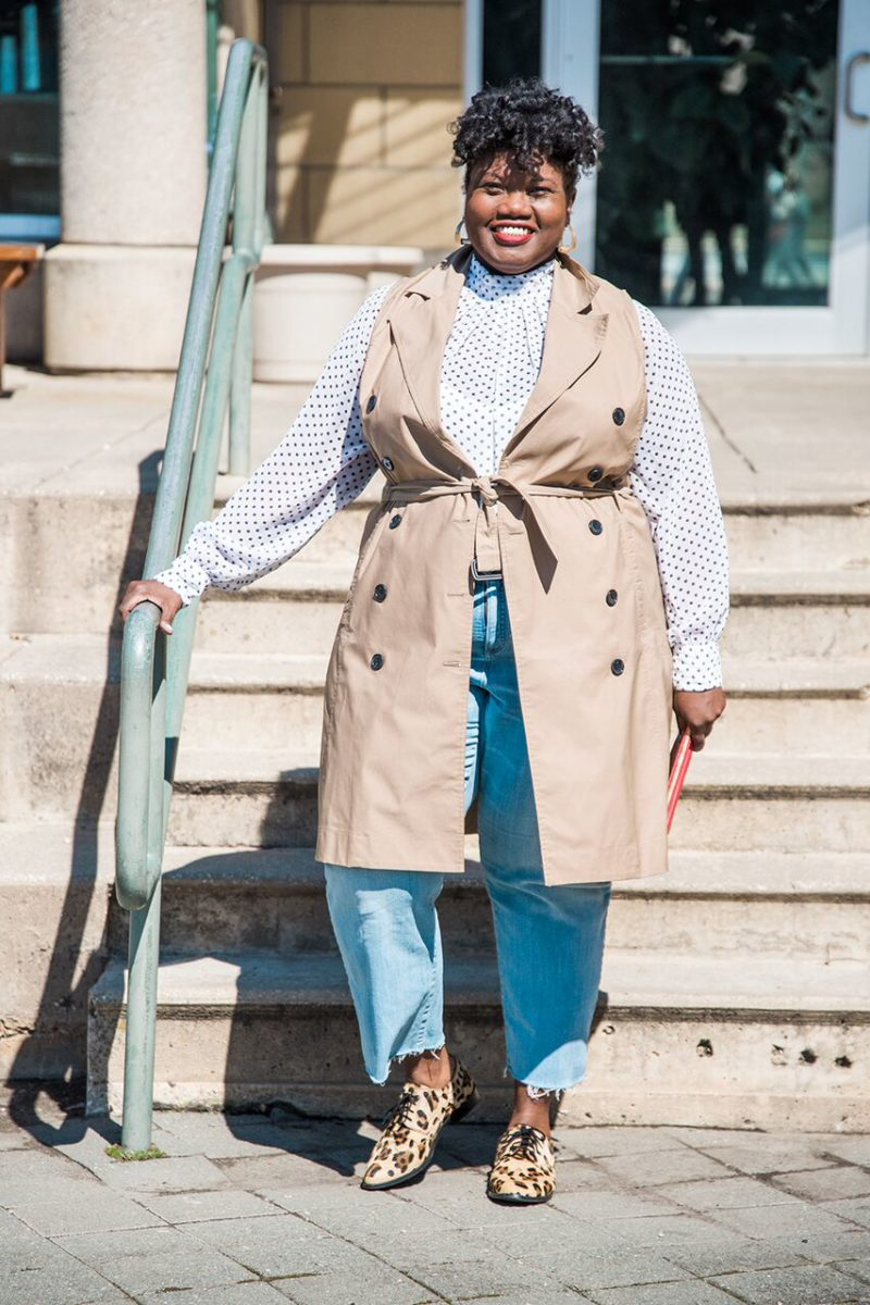 Trench Twist – Grown and Curvy Woman